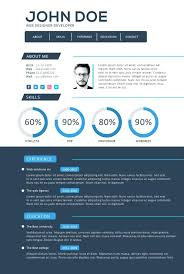 Graphic Resume Templates Resume Template Free Top Download Ms Word And Infographic Cv Style ...