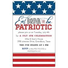 Be Patriotic Invitations Paperstyle