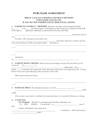 Home Purchase Agreement Printable Home Purchase Agreement Free Printable Purchase 1