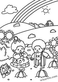 Small Picture Monchhichi Coloring Pages