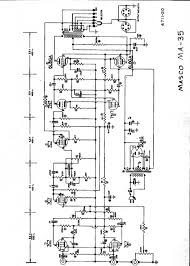 wade s audio and tube page masco ma 35 15dbw pa amplifier 2 6l6ga schematic