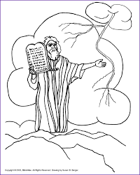 Small Picture Print Version Moses The Ten Commandments Coloring Page Kids