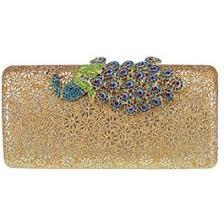 ABC STORY <b>Glitter Peacock</b> Floral Rhinestone Evening Bag ...