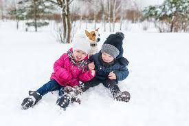 504 Children Playing Snow Dog Photos - Free & Royalty-Free Stock Photos  from Dreamstime