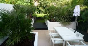 Small Picture Modern Urban London Garden Design limestone paving white raised