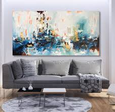 Large Living Room Paintings Large Original Acrylic Painting Canvas Art Abstract By Omar Obaid