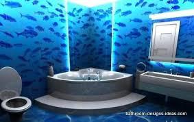 blue bathroom designs. Blue Bathroom,bathroom Murals,ocean Murals,under The Sea,corner Jaccuzi Tub Bathroom Designs R