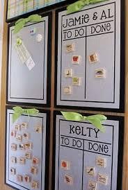 Simple Chore Chart With Magnetic White Boards Like The