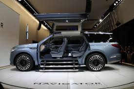 NY LIVE  Lincoln Navigator Concept  Video    LeftLaneNews moreover Lincoln Navigator concept car with gullwing doors  PHOTOS likewise  further 376 best  ཞłÐΞꌗ images on Pinterest   Cars  Cars and trucks besides Ford Lincoln SUVs Will Be Made in China After Big Sales Jump further 2016 Lincoln Navigator concept   2016 New cars of the Year furthermore  likewise The Rebirth of Lincoln and the Navigator Concept moreover The Rebirth of Lincoln and the Navigator Concept together with 2018 Lincoln Navigator Concept   F A B Cocktail moreover . on design story lincoln navigator concept