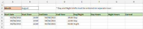 Excel Timesheet With Different Rates Computergaga Blog