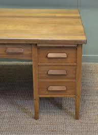large characterful edwardian antique oak partners desk large characterful