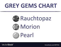 Gems Grey Color Chart