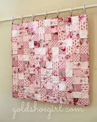 Gold Shoe Girl: Pretty in Pink Baby Girl Quilt & This was a baby quilt custom ordered from my etsy shop. It finished up at  approximately 36