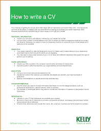 What To Write On A Cv How Write A Cv Example Lease Template