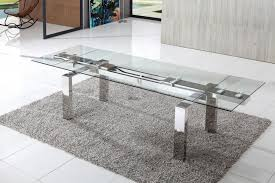 cosmic extending glass dining table