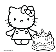 Coloring Pages Of Summer Hello Kitty Coloring Pages Printable Free
