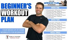 free 4 week beginner s workout plan total workout plan to lose weight and tone muscle