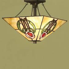 tiffany flush ceiling lights uk. interiors 1900 2 light semi-flush ceiling *fitting only*, bronze paint tiffany flush lights uk