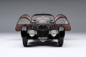 The type 57 sc atlantic is a design manifesto of jean bugatti. 1938 Bugatti Type 57sc Atlantic La Voiture Noire At 1 8 Scale Amalgam Collection