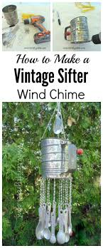 don t forget to pin it how to make a vintage sifter wind chime