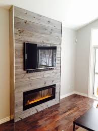 living room with tv and fireplace. Fireplace Feature Wall Completed With Grey Reclaimed Barn Board Supplied By Barnboardstore.com Living Room Tv And O