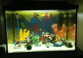 Funny Fish Tank Decorations Superhero Fish Tank My Style Pinterest Fish Tanks Fish And