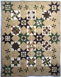 Hoffman Petals & Vines Batik Starry Path Quilt Kit | Quilts ... & Bear Paws Seeing Stars Complete Quilt Kit Adamdwight.com