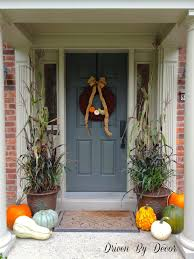 Fall Porch Decorating Decorating My Front Porch For Fall Driven By Decor