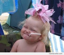 Cute Straw Baby Girl by ben - Meme Center via Relatably.com