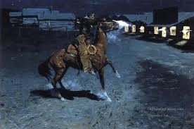 4 an arguement with the town marshall old american west cowboy frederic remington