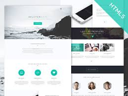 Single Page Website Template Classy Freebie Halcyon Days One Page Website Template