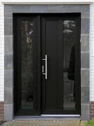modern black front doors. Plain Front Voordeur Modern Black Front Door With Glass Intended Modern Front Doors N