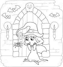 Kleurplaten Halloween Huis