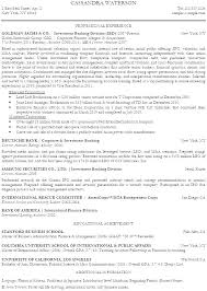 Investment Banking Analyst Resume Delectable Resume For Bank Internship