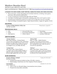 Resume Listing Education On Examples Tips Creative Writing High