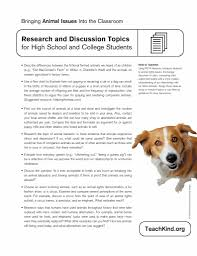 discussion topics for high school students peta teachkind worksheet
