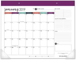 At A Glance Monthly Desk Pad Calendar Stickers January 2019