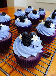 Blueberry And Blackberry Cupcakes With Blueberry Lemon Buttercream
