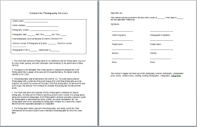 Photography Contracts Photography Contract Template Sample Get Sniffer