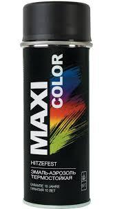 <b>Эмаль</b>-<b>аэрозоль MAXI</b> COLOR термостойкая черная 400мл ...