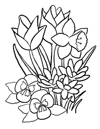 coloring pages for kids flowers. Plain Pages Flowers Coloring Pages Printable New Beauteous For Kids Flower Throughout O