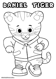 Daniel The Tiger Coloring Pages Crafts Pinterest