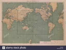World Index Map To Charts 1 21 World Large 50x70cm 1916