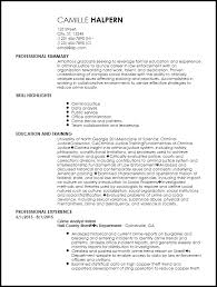 Resume For Entry Level Inspiration Free EntryLevel Law Enforcement Resume Template ResumeNow