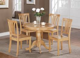 Small Kitchen Sets Furniture 5pc Small Kitchen Dining Set In Oak Finish Http Storesebaycom
