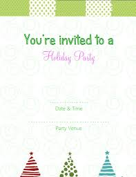 Printable Holiday Party Invitations Free Blank Christmas Invitations Free Printable Christmas Party