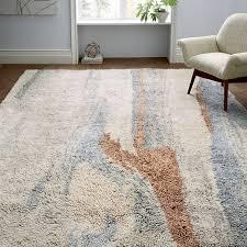 marbled wool rug multi
