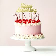 Send Beautiful Cake With Happy Anniversary Topper Online Free