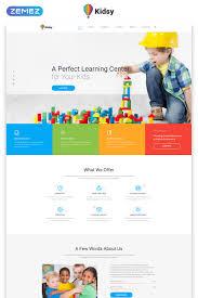 Kids School Website Template Best Primary School Website Templates