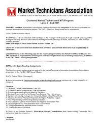 Cmt Program Level 3 Market Technicians Association